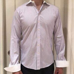 Men's Thomas pink size 16 shirt 👔